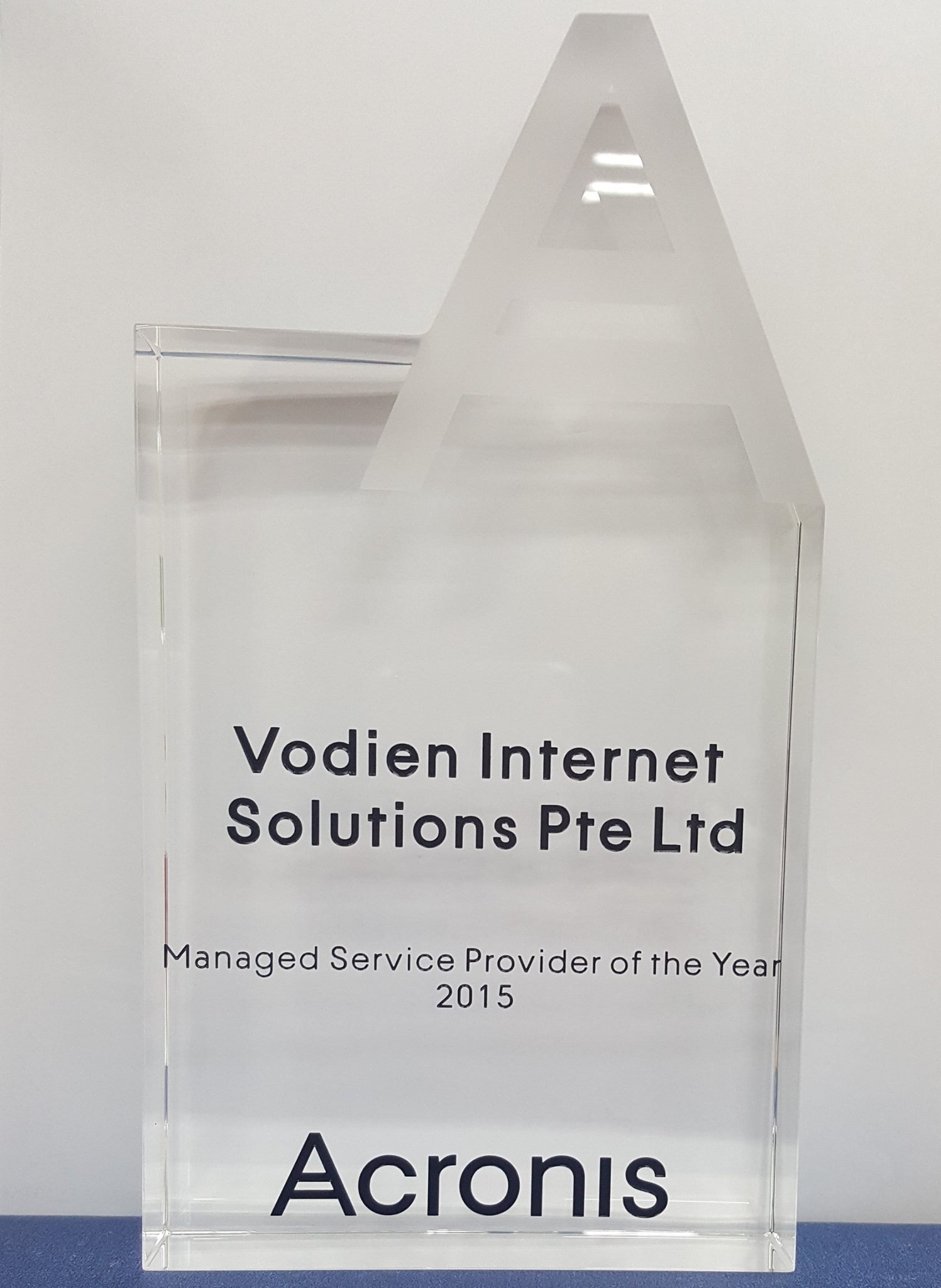 Vodien Won the Acronis Managed Service Provider of the Year 2015