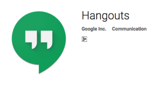 google hangouts - communication apps
