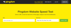 Pingdom Tools Website Speed Test
