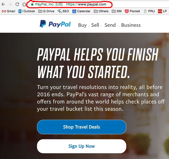 PayPal Extended Validation Certificate