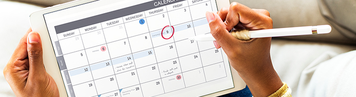Maintain a schedule of availability